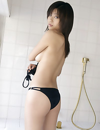Hot Japanese bikini girl solo