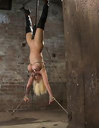 Kinky Blond Fetishist Upside Down