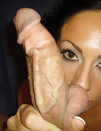 Girl eating big cock