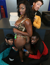 Black Slut Ganked By Multiple Dicks