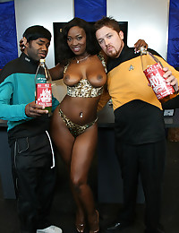 Black Slut Ganked By Multiple Dicks