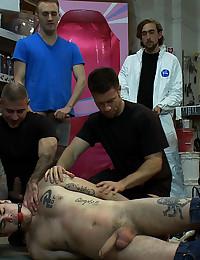 Warehouse group sex scene