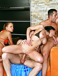 Three Hot Ladies Enjoy Jacuzzi Party