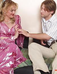 Mature Blond Cross Dresser Adores Dick