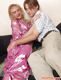 Mature Blond Cross Dresser Adores Dick