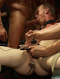 Bound boy blows in classy place
