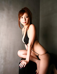 Asian Teen Mysterious In Black