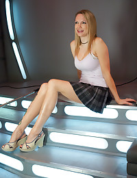 Big tits blonde beauty takes dildo