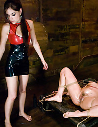 Roped And Gagged Vixen Gets Pleasured