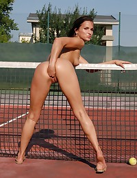 Teen Models's Sunny Jay is a vicious tennis player.