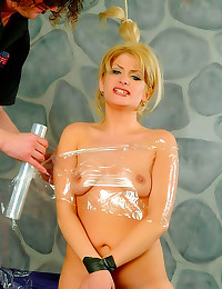 Plastic wrap and a facial
