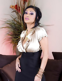 Priya Rai in satin blouse