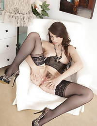 Hottie In Sexy Stockings Gets Naughty