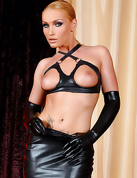 Chick in black leather