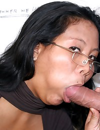 Slutty Asian girl pleases an anonymous cock