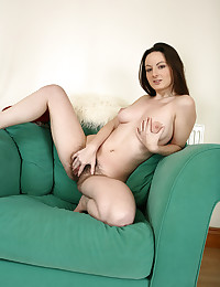 She's a beautiful girl with a wicked hairy pussy from ATK Natural and Hairy.