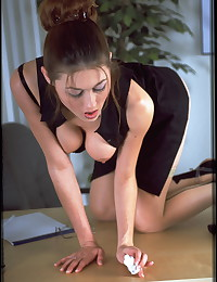 Jessie is a really naughty secretary in this gallery.