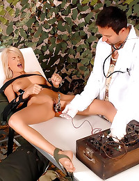 Doctor collects her hot piss