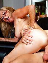 Glasses granny fucked hard
