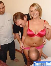 Group Sex Slumber Party Blonde Cutie Taking 3 Cocks