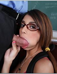 Ditsy Pigtailed Teen Veronica Fucks Teacher