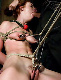 Riley Shy in hot bondage