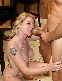 Blonde Milf Shawnie Gets Sticky Facial