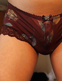 Photo collection of a kinky fag wearing see-thru panties