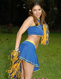 Lindy Lopez brings the sexiness in this cheerleader gallery.