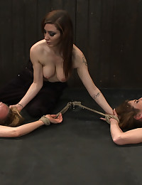 Toying the bound girls