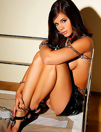 Caprice in chains toys pussy