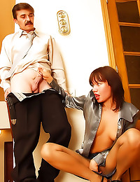 He fucks satin business hottie