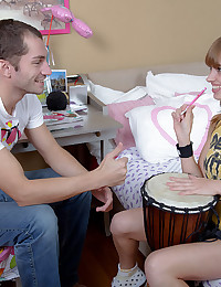 Teenage Minx Swallows A Load