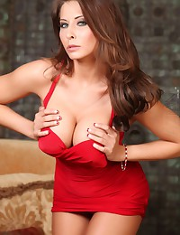 Watch Madison Ivy take off her red lingerie.