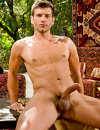Hunk with throbbing cock