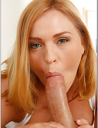 Cock Hungry Milf Sucks Thick Cock