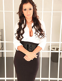 Sexy Lawyer Keira Fucks Inmate