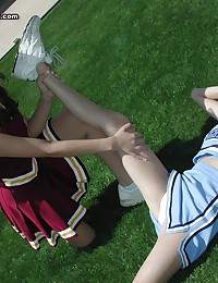 Hot sex crazed cheerleader in...