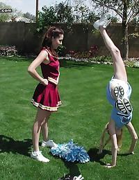 Hot sex crazed cheerleader in...