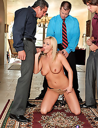 Cutie Bree Olsen Gets Gang Banged