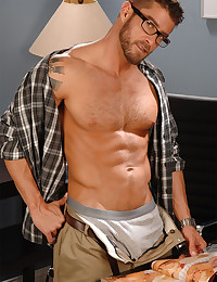 Hunk in glasses strips