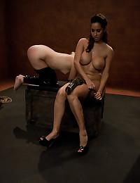 Strapon sex play