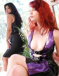 Latex ladies hot spanking