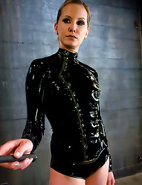 Latex mistress strapon fucks ...