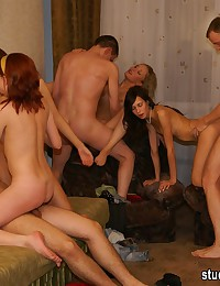 Hot photos with lewd stud having wild fuck orgy