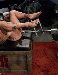 Rocco Giovanni gets plowed hard by the Dragon machine and blows his hot load.