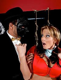 Horny Alanah Bangs Masked Man
