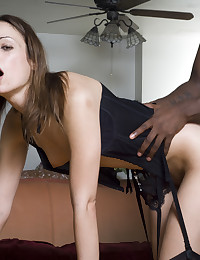 Horny Amber Lane triple penetrated by these big black dicks