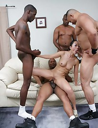 Asian Girl With Black Guys