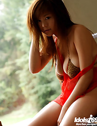 Asian in a sexy dress
